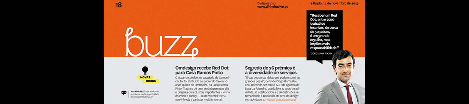 Omdesign wins a Red Dot to Ramos Pinto