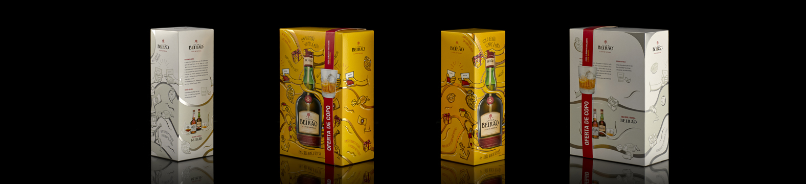 Omdesign cria packaging especial para o Natal do Licor Beirão